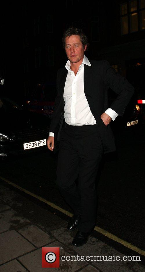 Hugh Grant outside a private screening of 'Changeling'...