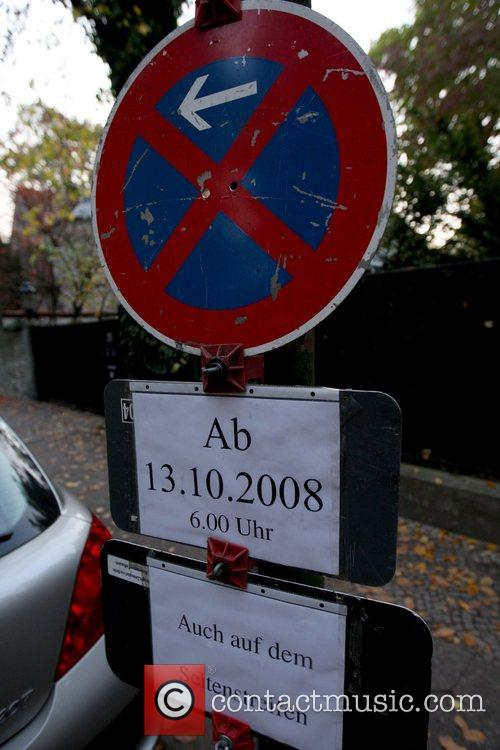 Parking Prohibition sign at the lake Wannsee villa,...