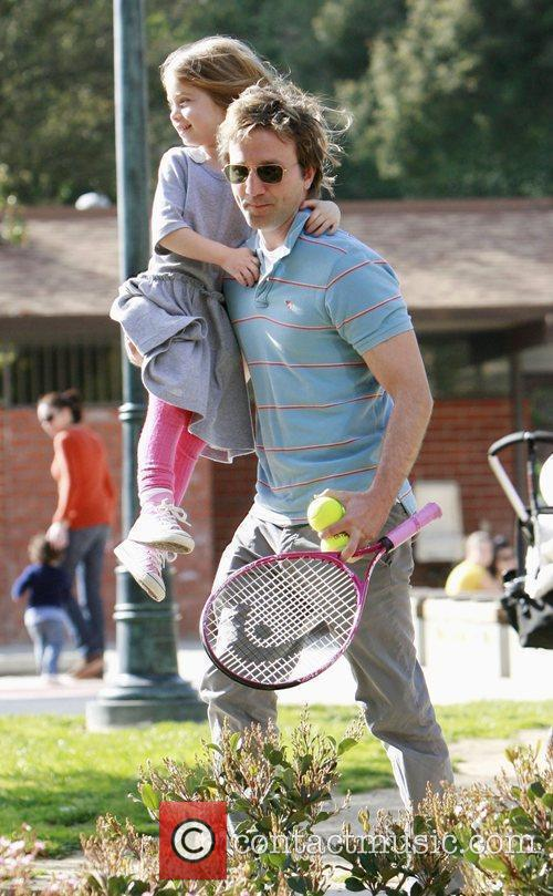 Breckin Meyer and his daughter Caitlin Willow Meyer...