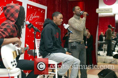 Performing songs from thier new Christmas CD, at...