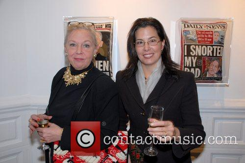 Andrea Fonyo (r) and guest Andy Warhol superstar...