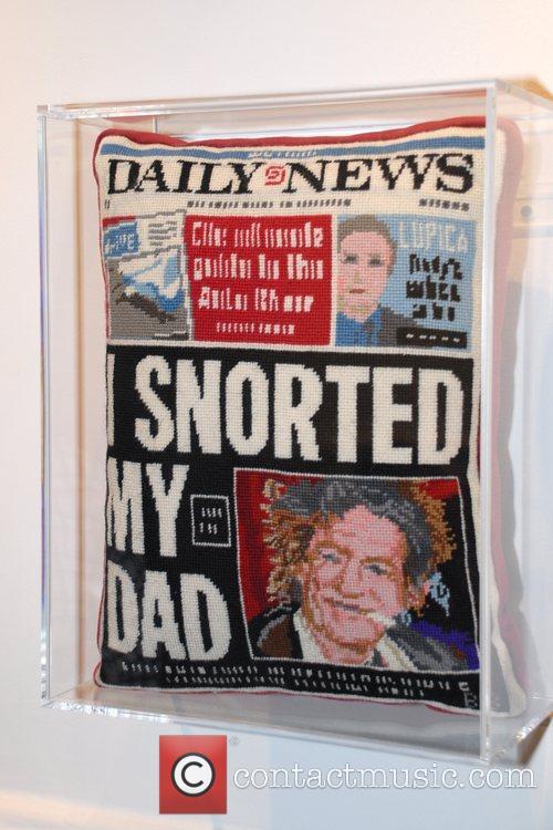 Needlepoint pillow Andy Warhol superstar Brigid Berlin showcases...
