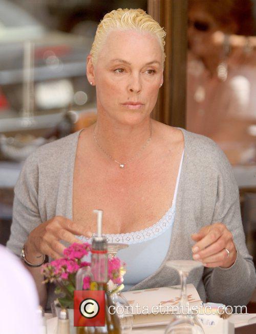 Brigitte Nielsen eating at Il Pastaio restaurant in...
