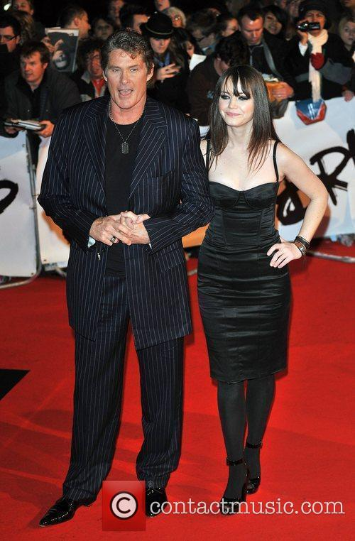 David Hasselhof and guest The 2009 Brit Awards...