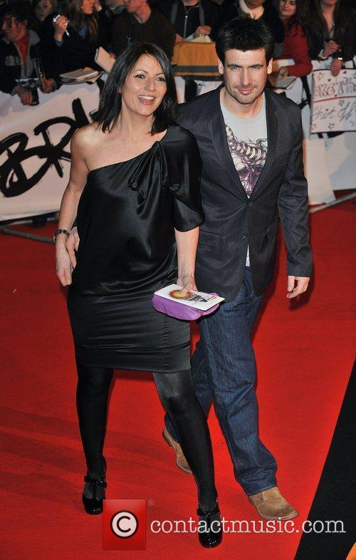 Davinia Taylor and guest The 2009 Brit Awards...