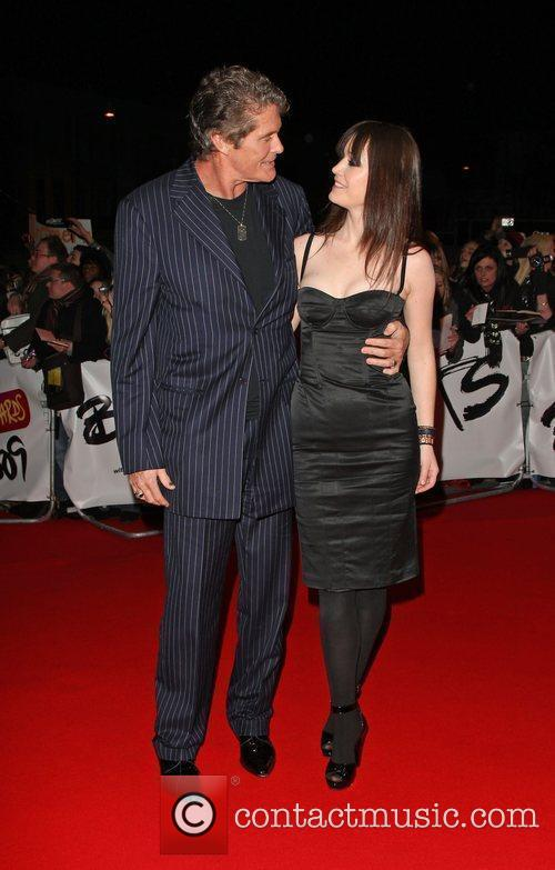 David Hasselhoff and guest The 2009 BRIT Awards...