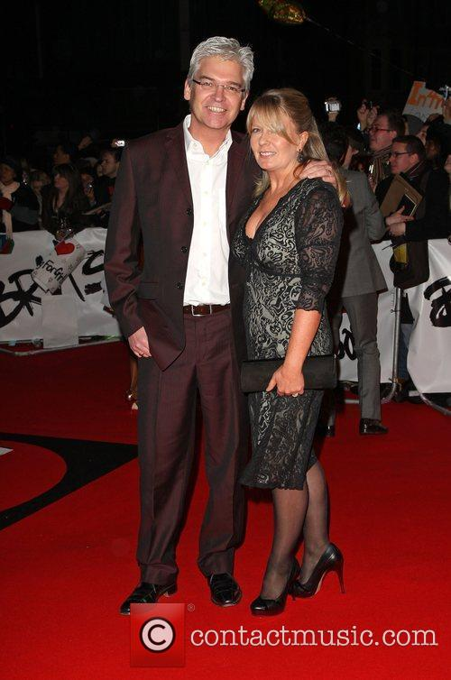 Phillip Schofield with his wife The 2009 BRIT...