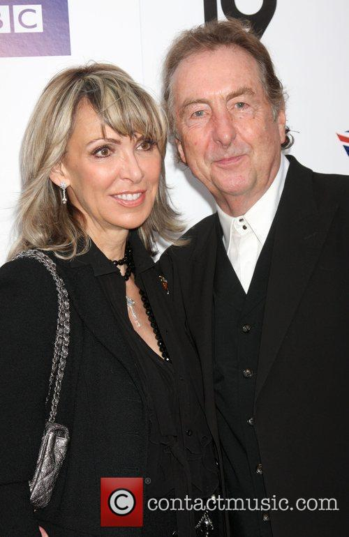Eric Idle and wife Champagne Launch of BritWeek...