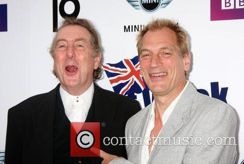 Eric Idle and Julian Sands Champagne Launch of...