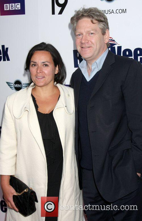 Kenneth Branagh and wife Lindsay Brunnock  Champagne...