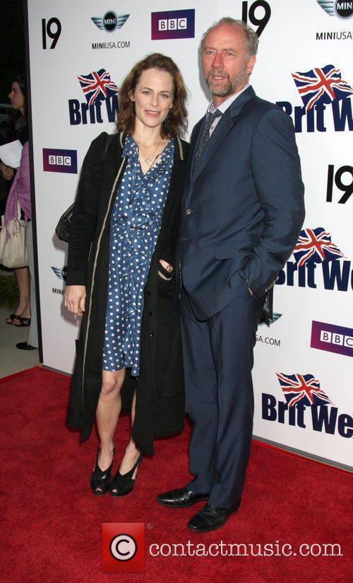 Sarah Clarke and Xander Berkley  Champagne Launch...