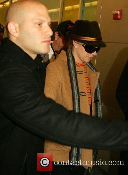 Britney Spears arrives at JFK airport New York...