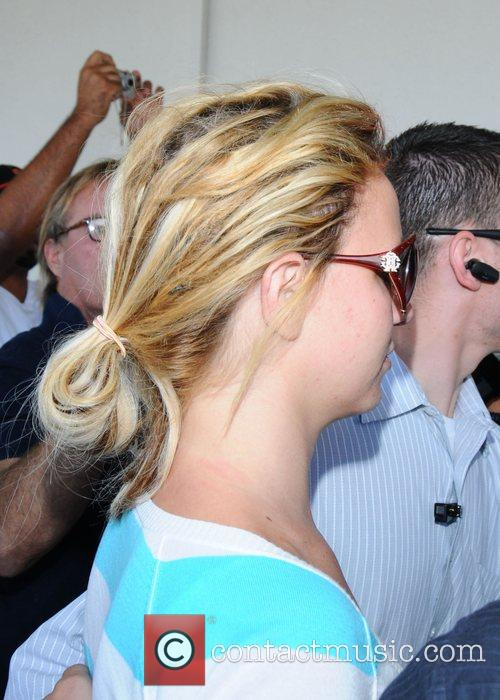 Britney Spears arriving at LAX airport heading for...