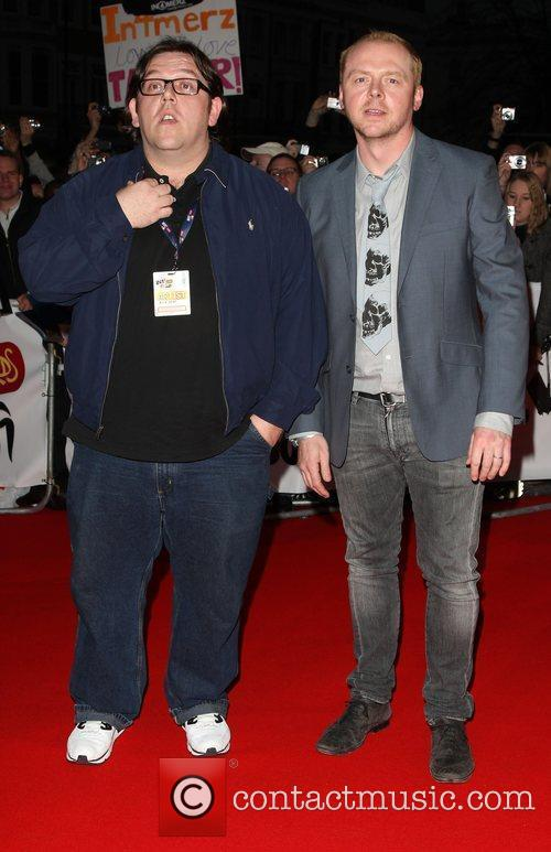 Nick Cross and Simon Pegg The 2009 BRIT...