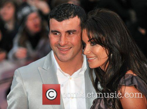 Joe Calzaghe and wife The 2009 BRIT Awards...