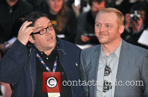 Nick Frost and Simon Pegg The 2009 BRIT...