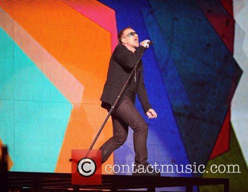 Bono of U2 The 2009 BRIT Awards -...