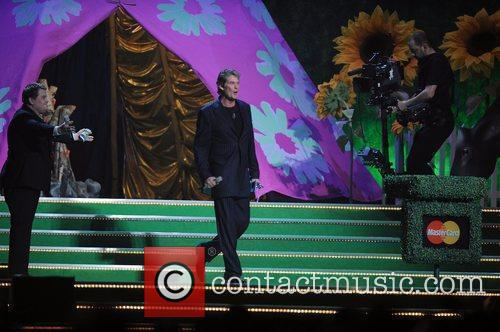James Corden and David Hasselhoff The 2009 BRIT...