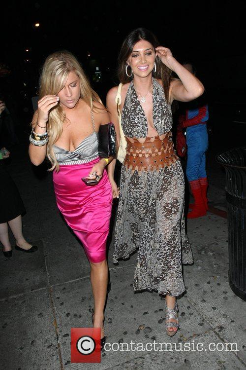 Leaving My House nightclub with a friend.