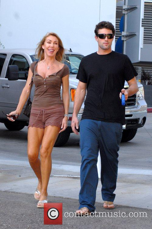 Brody Jenner walking his dog with his mother...