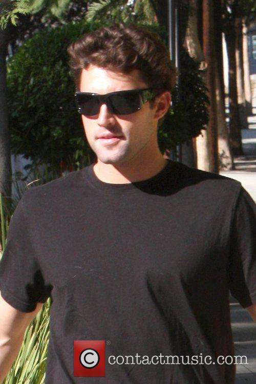 Brody Jenner  walking his dog Bentley with...