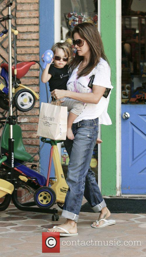 Brooke Burke with her daughter Heaven Rain leaving...