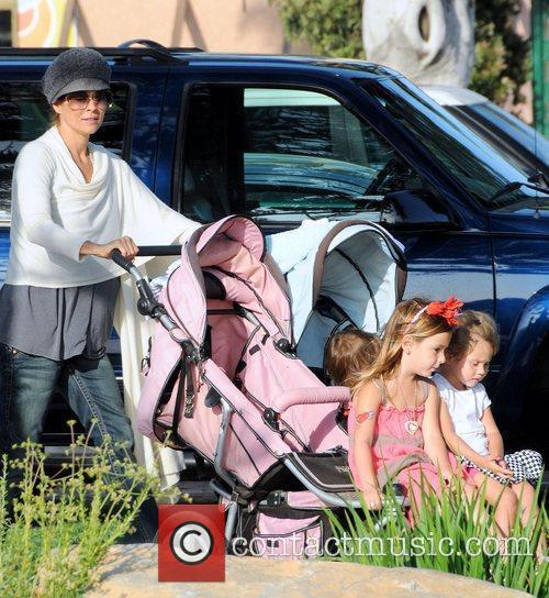 Brooke Burke enjoying a day out with her...