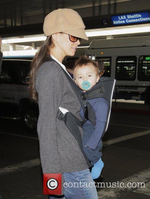 Brooke Burke and her son Shaya Charvet seventh...