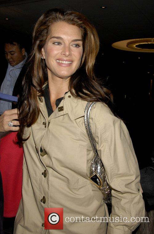 Brooke Shields outside NBC Studios after appearing on...