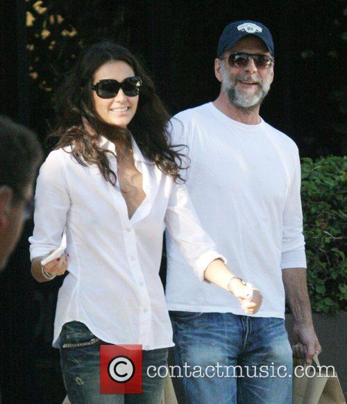 Bruce Willis and Girlfriend Emma Heming  were...