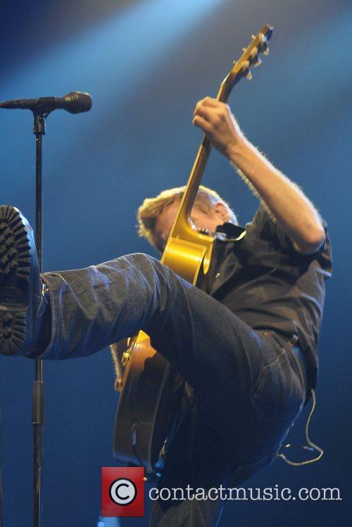 Bryan Adams performs at the Cardiff International Arena...