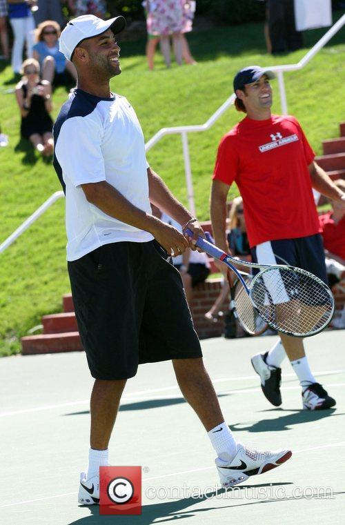 James Blake and Robby Genepri All-Star Tennis Smash...