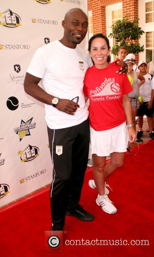 Jimmy Jean-Louis and Melissa Rivers All-Star Tennis Smash...