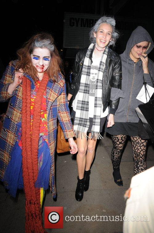 Alexa Chung at Bungalow 8 in a halloween...