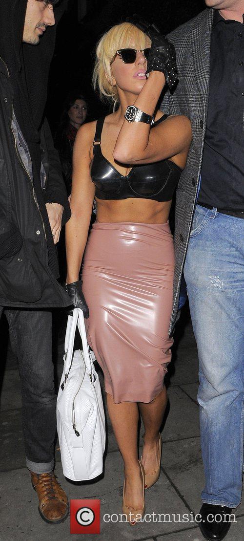Joanne Stefani Germanotta aka Lady GaGa leaving Bungalow...
