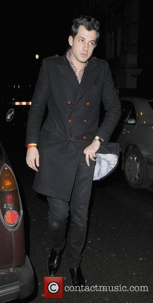 Mark Ronson leaving Bungalow 8 nightclub London, England
