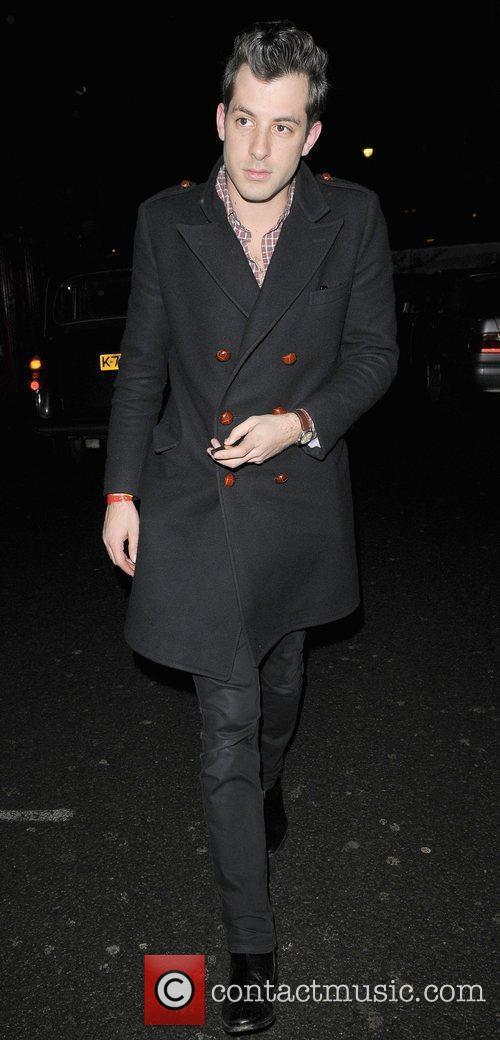 Mark Ronson leaving Bungalow 8 nightclub