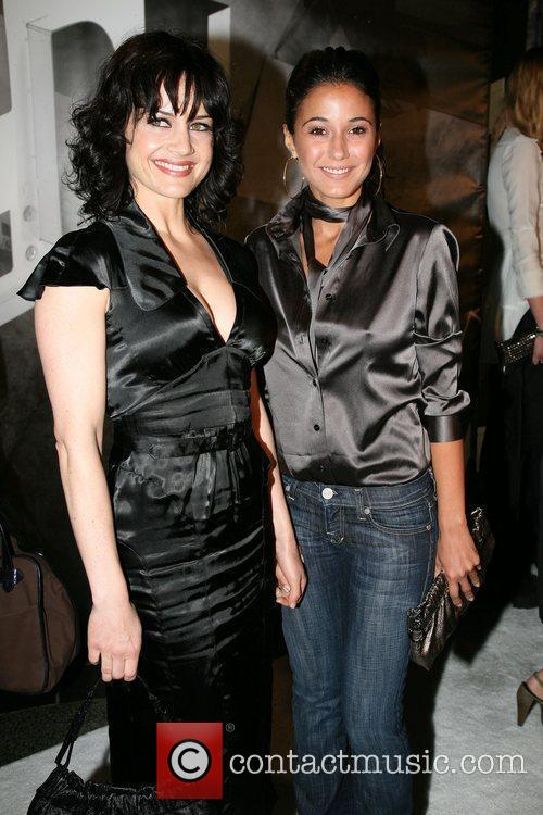 Carla Gugino and Emmanuelle Chriqui Burberry Lights Up...