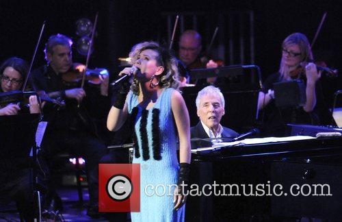 Burt Bacharach and Beth Rowley performing at the...