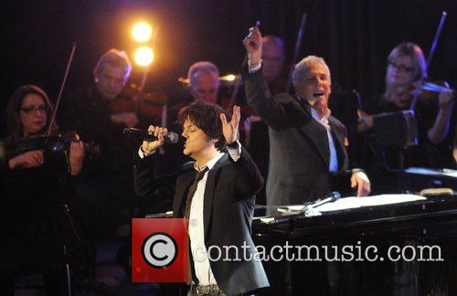 Burt Bacharach and Jamie Cullum performing at the...