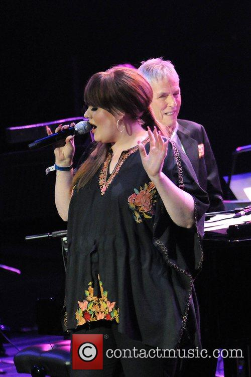 Burt Bacharach and Adele Adkins performing at the...