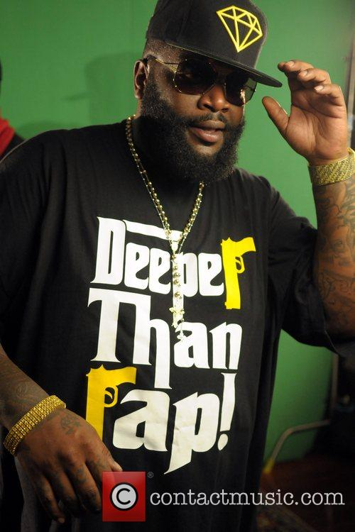 Rick Ross shooting a music video after performing...