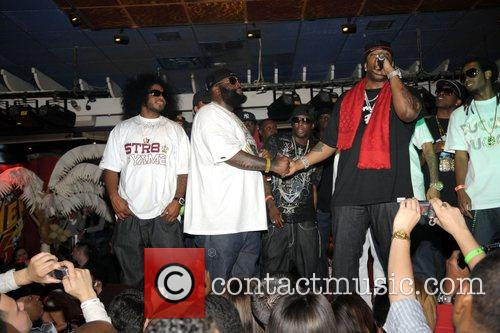Rick Ross and Busta Rhymes performing at 'Power...