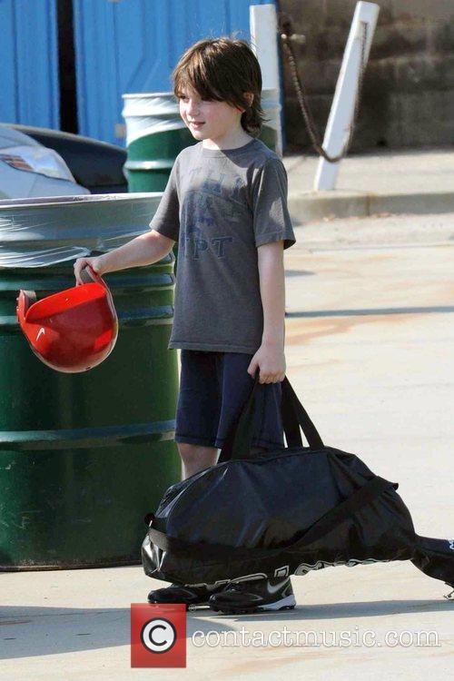 Calista Flockhart's son, Liam, leaving a Brentwood park...