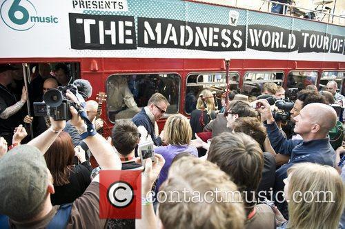 Madness arriving at the Dublin Castle as part...