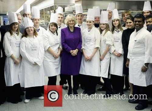 Camilla, Duchess of Cornwall  Meets pupils from...