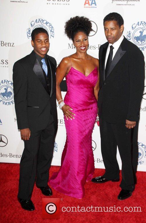 Denzel Washington and Barbara Davis 1
