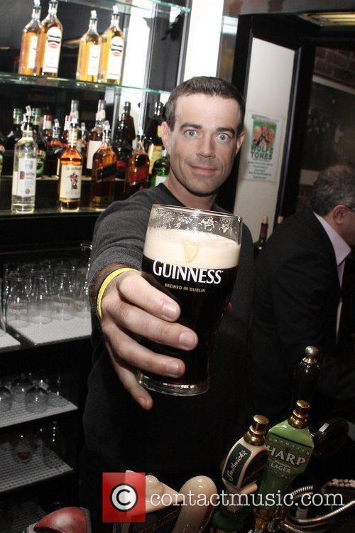 TV host Carson Daly  toasts St. Patrick's...