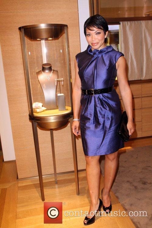 Tisha Campbell-Martin Cartier and Malibu Magazine Cocktail Event...