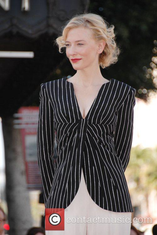 Cate Blanchett  receives the 2,376th Star on...